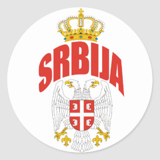 Serbia Latin Classic Round Sticker