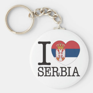 Serbia Love v2 Key Ring