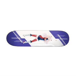 Serbia Manga girl dressed in Flag - Serbian Custom Skate Board