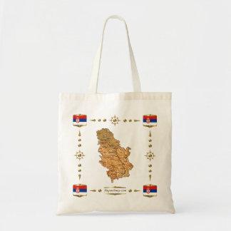 Serbia Map + Flags Bag