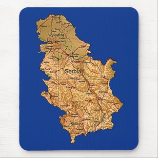 Serbia Map Mousepad