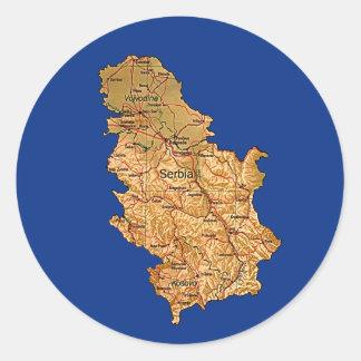 Serbia Map Sticker