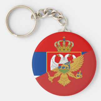 serbia montenegro flag country half symbol key ring