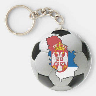 Serbia national team basic round button key ring