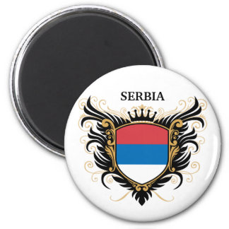 Serbia [personalize] 6 cm round magnet