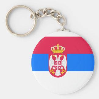 Serbia, Serbia flag Basic Round Button Key Ring