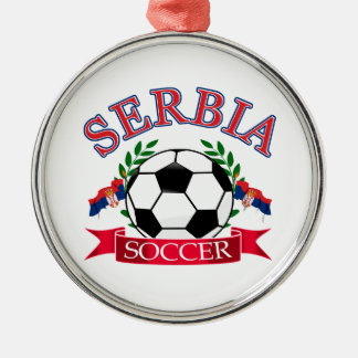 Serbia soccer ball designs christmas ornament