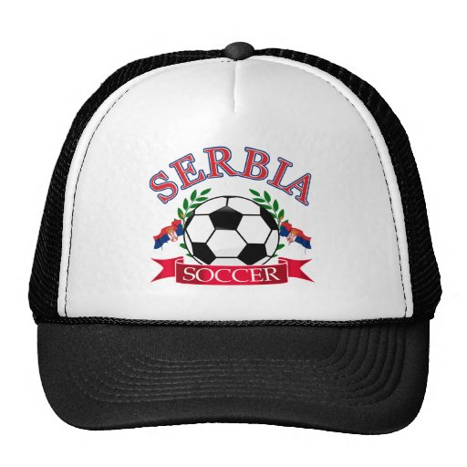 Serbia soccer ball designs hats