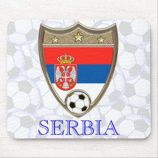 Serbia Soccer Mouse Pad