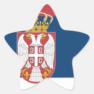 serbia star sticker
