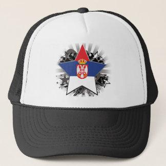 Serbia Star Trucker Hat