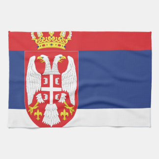 serbia tea towel
