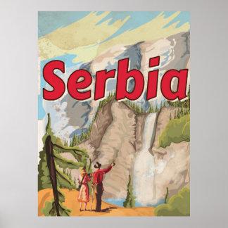 Serbia vintage Travel Poster