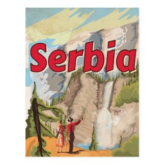 Serbia vintage Travel Poster Postcard