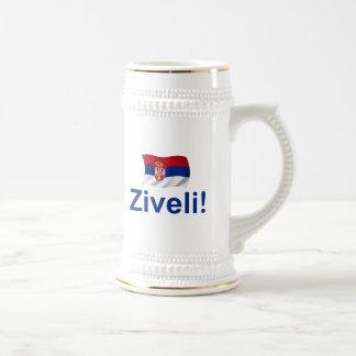 Serbia Ziveli! Beer Stein