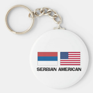 Serbian American Key Ring