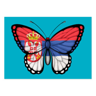 Serbian Butterfly Flag Business Card Templates
