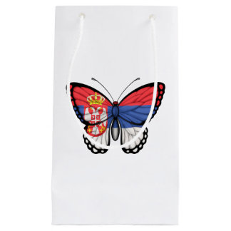 Serbian Butterfly Flag Small Gift Bag