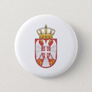 Serbian coat of arms 6 cm round badge