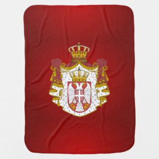 Serbian coat of arms baby blanket