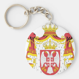 Serbian Coat of Arms Basic Round Button Key Ring