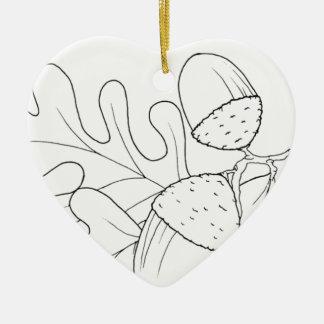 serbian cyrillic acorn ceramic heart decoration