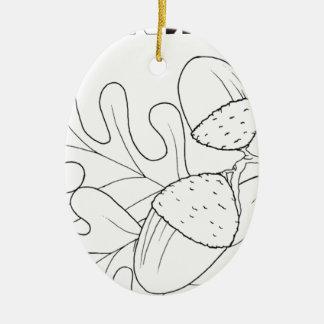 serbian cyrillic acorn ceramic oval decoration