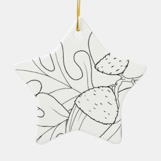serbian cyrillic acorn ceramic star decoration