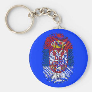 Serbian fingerprint DNA Serbia pride gifts Key Ring