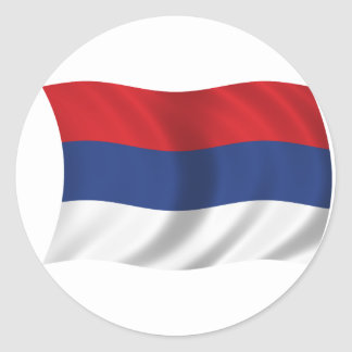 Serbian flag classic round sticker