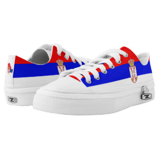 Serbian flag low tops