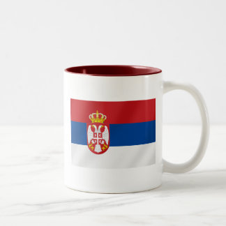 Serbian Flag of Serbia - Show off for Srbija Two-Tone Coffee Mug