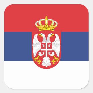 Serbian Flag Square Sticker