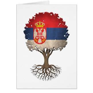 Serbian Flag Tree of Life Customizable Card