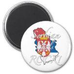 Serbian Girls Rock! 6 Cm Round Magnet