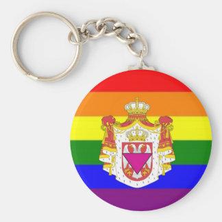 Serbian GLBT Pride Keychain