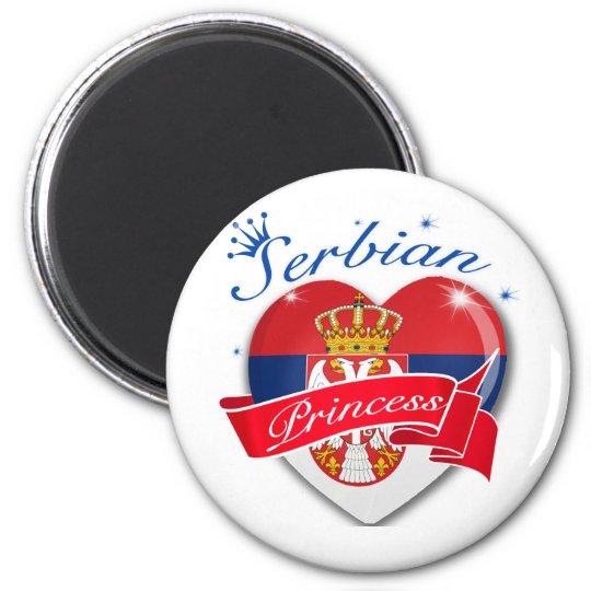 Serbian Princess 6 Cm Round Magnet