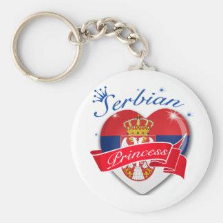 Serbian Princess Basic Round Button Key Ring