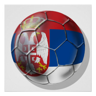 Serbian soccer 2014 world cup ball lovers Srbija Poster