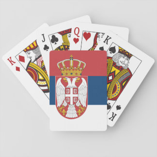 Serbian state flag playing cards