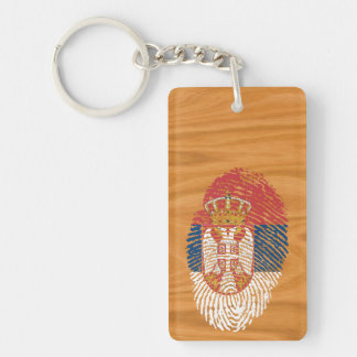 Serbian touch fingerprint flag key ring