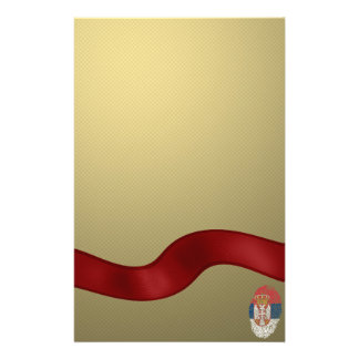 Serbian touch fingerprint flag stationery