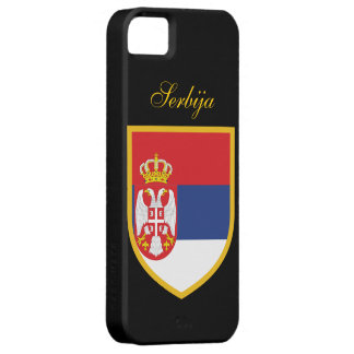 Serbien-Flagge Case For The iPhone 5