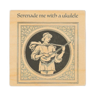Serenade Me with a Ukulele Coaster