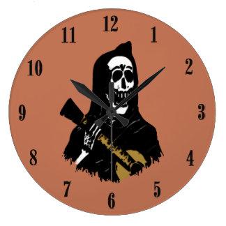 Serenade Skeleton Antique Brass Wall Clock