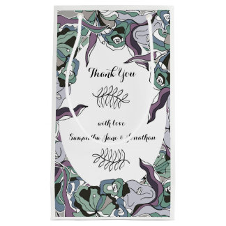 Serendipity Floral Forest Wedding Suite Small Gift Bag
