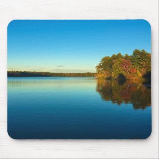 Serene Autumn Lake Mouse Mat