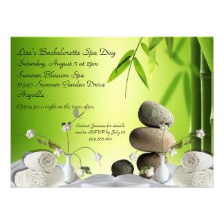 Serene Bachelorette Custom Spa Day Invites