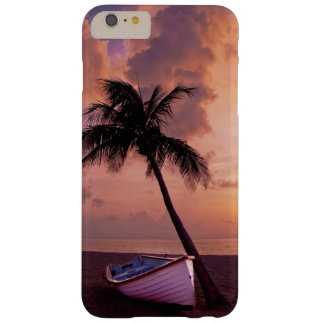 Serene Boat and Palm Tree at Sunset Scene Barely There iPhone 6 Plus Case