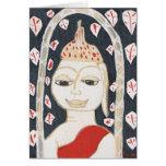 serene buddha Greeting Card